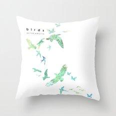 Birds of the arctic Throw Pillow