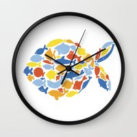 fish of fishes Wall Clock