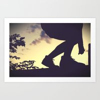 balanced silhouettes  Art Print