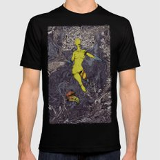 Women Naturally Tree SMALL Mens Fitted Tee Black