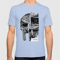 MF Doom Mens Fitted Tee Tri-Blue SMALL