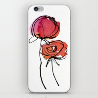 Red Ranunculus iPhone & iPod Skin