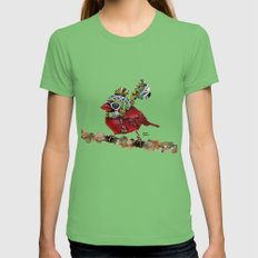 Cardinal Blaze Womens Fitted Tee Grass SMALL