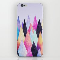 Colorful Abstract Geometric Triangle Peak Wood's  iPhone & iPod Skin