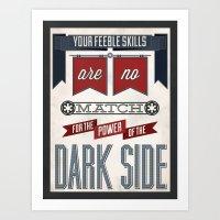Feeble Skills Art Print