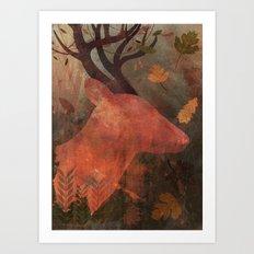 Monarch of Autumn Art Print