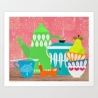 Still Life With Stuffed … Art Print