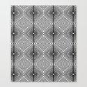 Illusion - Black & White Canvas Print