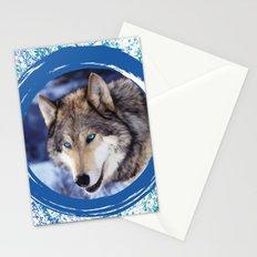 Blue-Eyed Wolf Stationery Cards