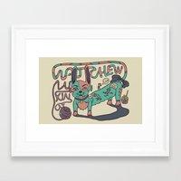 Don't Tick Me Off. Framed Art Print