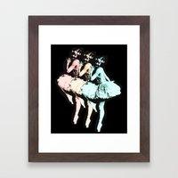 Dancing Girls Framed Art Print