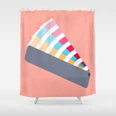 #28 Pantone Swatches Shower Curtain