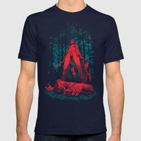 Huntress Mens Fitted Tee Navy SMALL