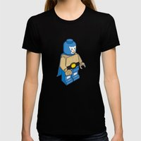 BLUE DEMON Womens Fitted Tee Black SMALL