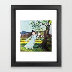 In the rain ... Framed Art Print
