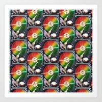 Computer Hard Drive Coll… Art Print