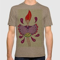Girl with wings Mens Fitted Tee Tri-Coffee SMALL