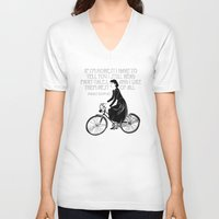 Audrey always knows what to say. Unisex V-Neck