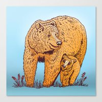 Mother Bear Canvas Print