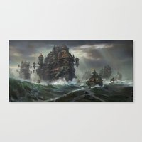 Kodran Migrant fleet  Canvas Print