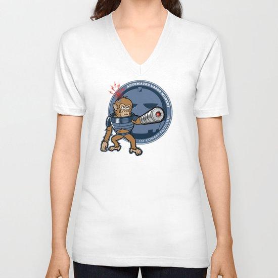 Automated Laser Monkey V-neck T-shirt