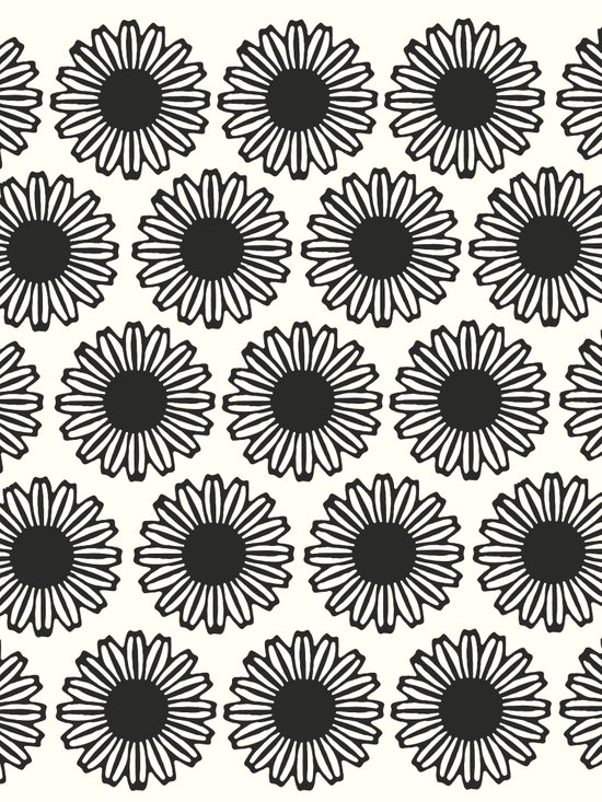 Vintage Flower_Black Canvas Print