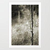 Autumn Sepia Art Print