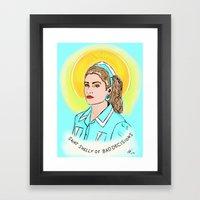 St. Shelly Framed Art Print