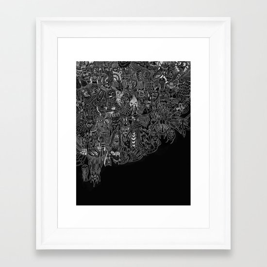 Peepers Framed Art Print