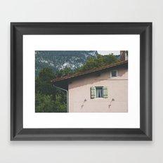 Pink Alpine House Framed Art Print