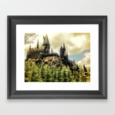 Hogwarts School of Witchcraft and Wizadry  Framed Art Print