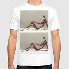 Supine by Shimon Drory Mens Fitted Tee SMALL White
