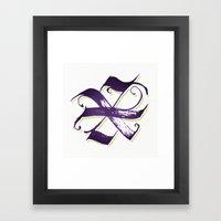Letter X Framed Art Print