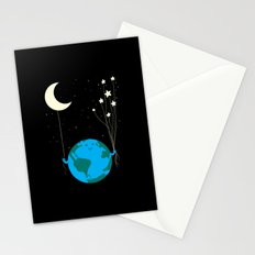 Under the moon and stars Stationery Cards