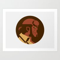 Headgear: Hell Boy Art Print