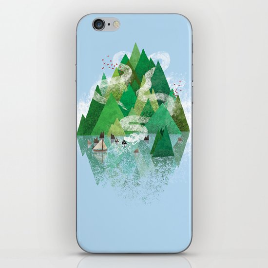 Mysterious Island iPhone & iPod Skin