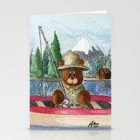 Fisherman Bear Stationery Cards