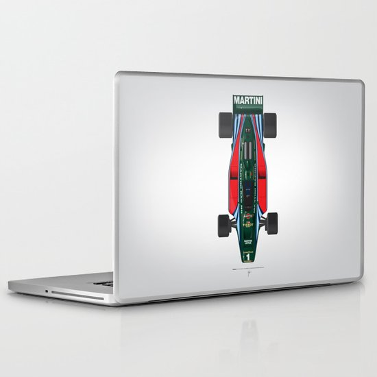 Outline Series N.º2, Mario Andretti, Lotus 80-Ford 1980 Laptop & iPad Skin