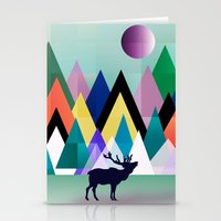 hipster Stationery Cards featuring hipster by mark ashkenazi