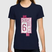S6 Speak Womens Fitted Tee Navy SMALL