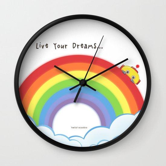 Live Your Dreams Wall Clock