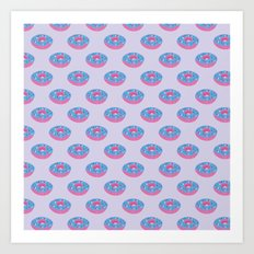 Pastel Doughnut Heaven Pattern  Art Print