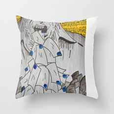 We are eaten up by nothing — Bukowski Throw Pillow