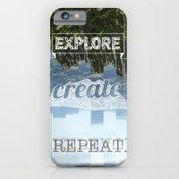 Explore Create Repeat iPhone 6 Slim Case