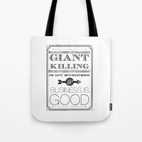 Giant Killing Is My Busi… Tote Bag