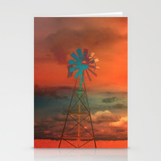 Red Sky at Night Stationery Card