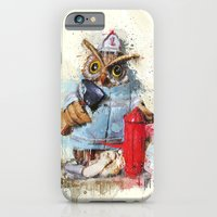 iPhone & iPod Case featuring FireOwl by Msimioni
