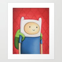 Finn Adventure Time Art Print
