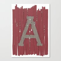 Winter clothes II. Letter A Canvas Print