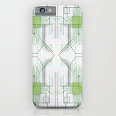 Circuit board green repeat Slim Case iPhone 6s